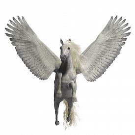 image of divine  - Pegasus is a legendary divine winged stallion and is the best known creature of Greek mythology - JPG