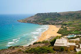 picture of gozo  - Ramla bay beach in Gozo island Malta - JPG