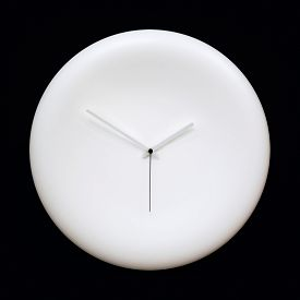 picture of analog clock  - Abstract blank white modern analog clock with arrows on black background - JPG