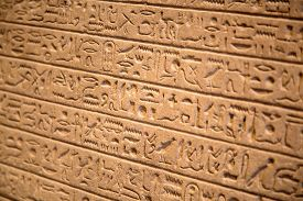 foto of hieroglyphic  - Egyptian hieroglyphs on the wall - JPG
