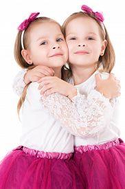 pic of identical twin girls  - Portrait of twin girls - JPG