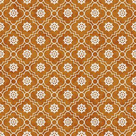 image of dharma  - Orange and White Wheel of Dharma Symbol Tile Pattern Repeat Background that is seamless and repeats - JPG