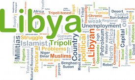 foto of libya  - Background concept wordcloud illustration of Libya - JPG