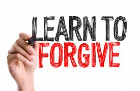 picture of forgiveness  - Hand with marker writing - JPG