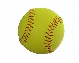 pic of softball  - Softball isolated on white - JPG