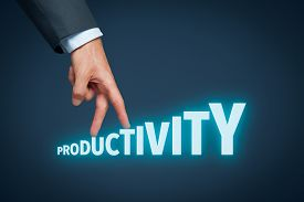 pic of productivity  - Increase personal or company productivity concept - JPG