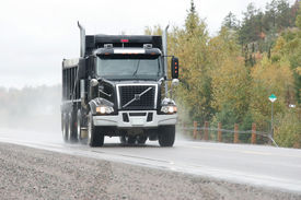 picture of dump_truck  - taken on highway17 west just west of sudbury - JPG