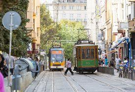 stock photo of tram  - Sofia Bulgaria  - JPG