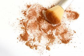 picture of face-powder  - isolated face powder on a white background - JPG