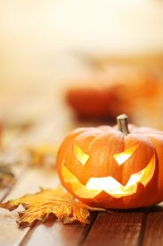 stock photo of jack-o-laterns-jack-o-latern  - Halloween jack o - JPG
