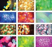 Glitter Vintage Defocused Lights Background Set poster