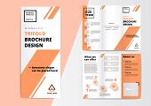 Сorporate Presentation Trifold Brochure Design. Creative Business Proposal Or Annual Report. Vector poster