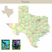 stock photo of texas map  - USA states series - JPG