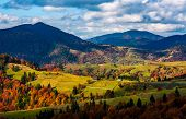 Magnificent Mountainous Landscape In Autumn poster