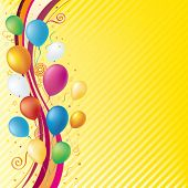 vector balloons,celebration background