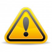 picture of warning-signs  - triangular warning sign on white background - JPG