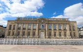 The Historic Facade Of Beauvais City Hall . Beauvais, Hauts-de-france, France. poster