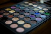 Colourful Eye Shadows Palette Professional Cosmetics For The Creation Of Modern Makeup. Multi-colore poster