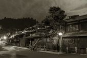 Historical Street At Historical Town Takayama In Japan poster