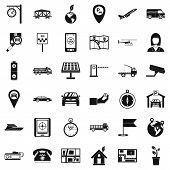 Navigation Complex Icons Set. Simple Set Of 36 Navigation Complex Icons For Web Isolated On White Ba poster