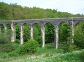 picture of poitiers  - A Roman aqua duct near Poitiers in France - JPG