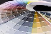 Colorful Mesh Color Gradation Close-up. Color Wheel For Choosing Paint Tone poster