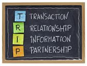successful customer supplier co-operation -TRIP (transaction, relationship, information, partnership