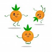 Energetic Fruit Oranges In Various Poses Active And Orange Involved In Sports Dancing And Meditating poster