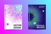 Music Cover Design. A Set Of Modern Abstract Backgrounds. Abstract Party Posters. Futuristic Wave Pa poster