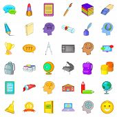 Quick Access Icons Set. Cartoon Set Of 36 Quick Access Icons For Web Isolated On White Background poster