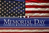 American flag Memorial day background poster