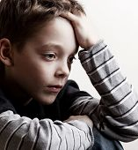 image of child abuse  - Sad boy - JPG