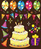 image of birthday-cake  - Retro Birthday Party - JPG