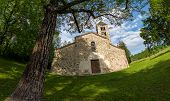 Old italian rural church. San Secondo is an antique small church (11th century), example of the Roma poster