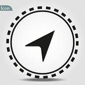 Navigation Base Icon. Simple Sign Illustration. Navigation Symbol Design. Can Be Used For Web, Print poster