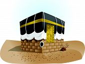 foto of kaba  - Kaba of muslim in vector art and full color - JPG