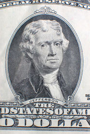 picture of two dollar bill  - two dollar bill detail - JPG