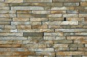 image of tile cladding  - Natural stone pieces tiles for walls - JPG