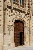 pic of baeza  - Jabalquinto palace entrance Baeza Jaen Province Andalusia Spain Western Europe - JPG