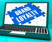 Brand Loyalty On Laptop Showing Successful Branding poster