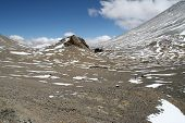 image of aconcagua  - Ameghino Col serpating Aconcagua and Ameghino Argentina - JPG