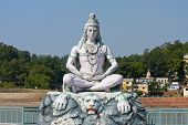 picture of shiva  - Shiva hindu idol on the Ganges Rishikesh India - JPG