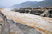 the yellow River and Hukou waterfalls