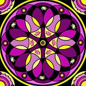 Image of floral mandala drawing sacred circle.