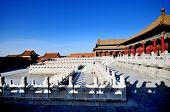 the forbidden city, landmark in beijing china poster