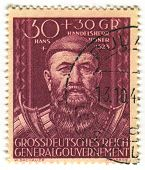 DEUTSCHES REICH  - CIRCA 1944: A stamp printed in Deutsches Reich shows image of the Hans Boner (bef