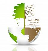 stock photo of deforestation  - Save the world - JPG