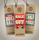 stock photo of half  - Sale Tags Design - JPG