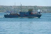 SEVASTOPOL, UKRAINE - MAY 8: Russian seamen prepare to the naval parade in honor of 230th anniversar