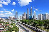 foto of petronas twin towers  - Kuala Lumpur skyline - JPG